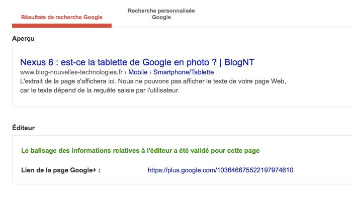 Google Webmasters Tools a déjà supprimé l'option de validité