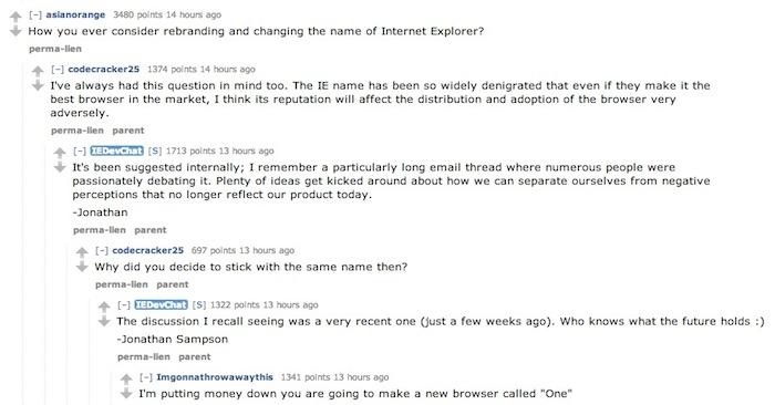 Microsoft est en discussion afin de renommer Internet Explorer