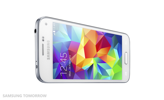 Samsung Galaxy S5 Mini : vue de face