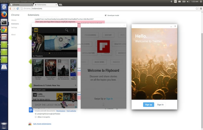 Exécuter des apps Android sur Linux avec Chrome