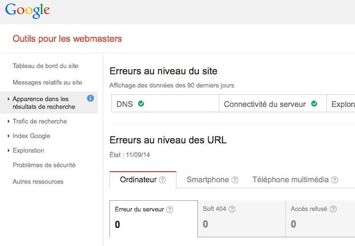 Google met à jour son API pour Webmaster Tools