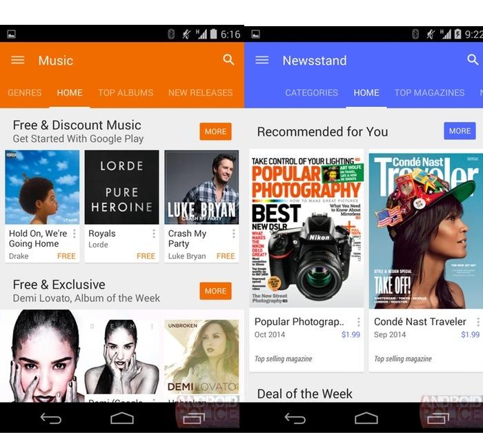 Google Play Store 5.0 : Newsstand
