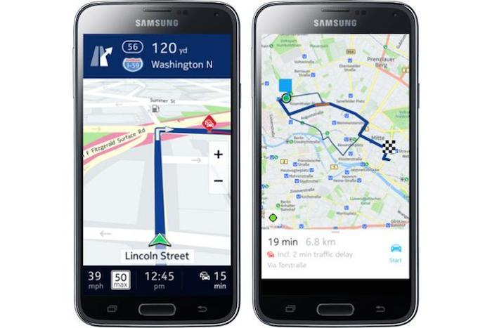 HERE Maps sera disponible sur les smartphones Galaxy