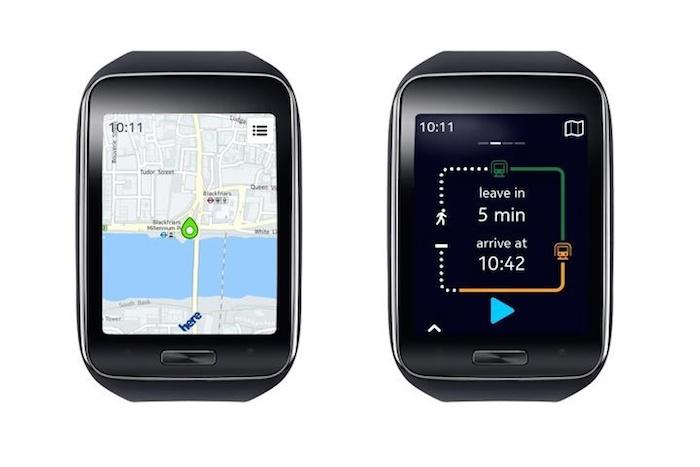 HERE Maps sera disponible sur la Gear S
