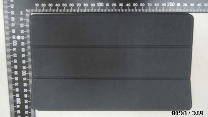 HTC Nexus 9 : cela semble être un clavier Bluetooth - vue de face