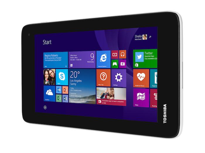 IFA'14 : Toshiba lance une tablette Windows de 7 pouces pour 120 dollars