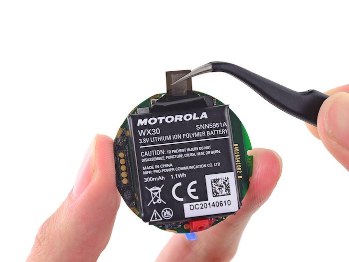 Moto 360 : les entrailles