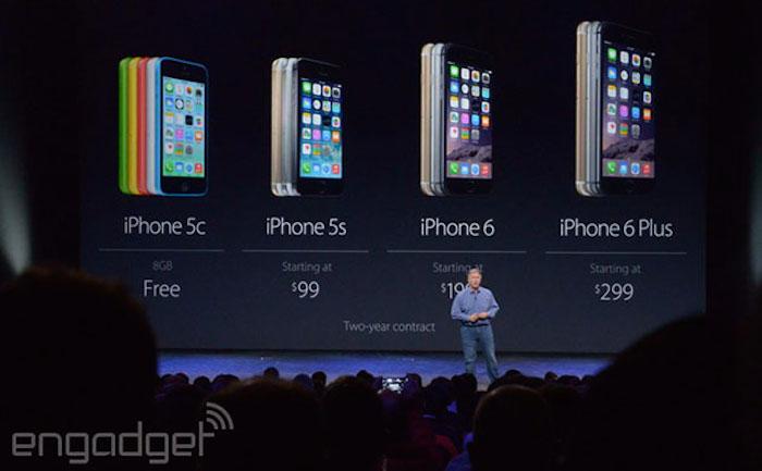 iPhone 5S moins cher, tandis que l'iPhone 5C est gratuit avec un abonnement