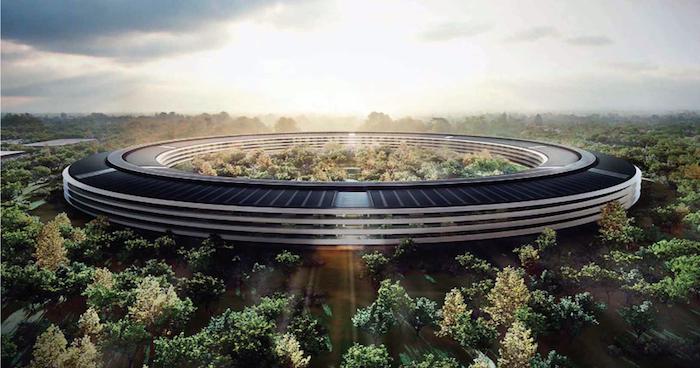 Plans du futur campus d'Apple