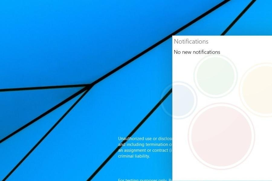 Windows 9 - centre de notifications