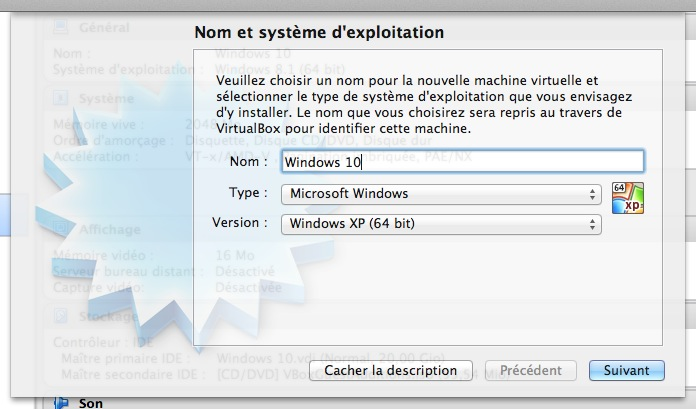 Windows 10 Technical Preview : création machine virtuelle