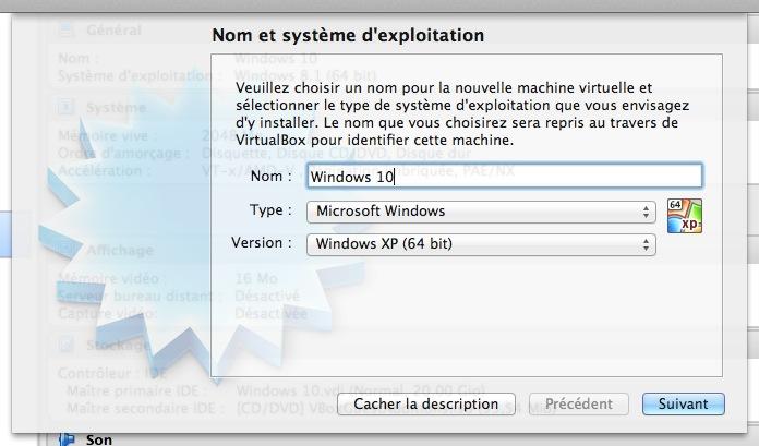 Windows 10 Technical Preview : création machine virtuelle