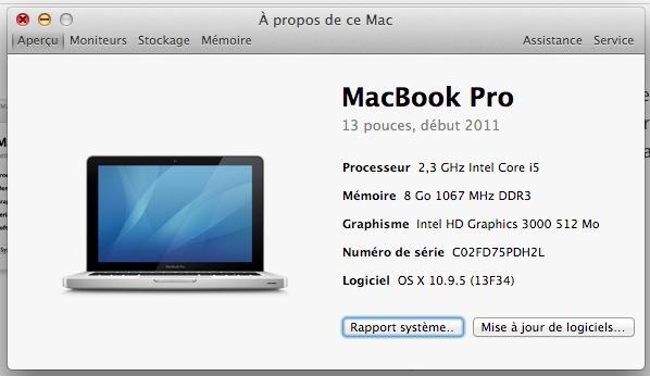 À propos de ce Mac