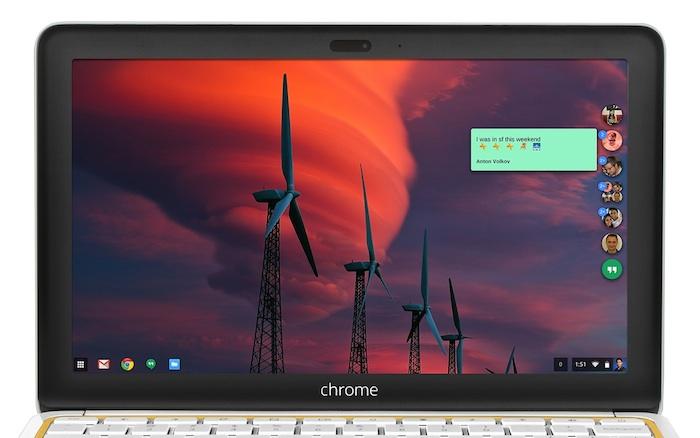 Google Hangouts pour Chrome OS et Windows est moins gênante