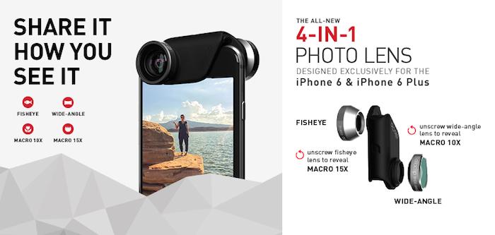 Olloclip 4-en-1 : prenez de meilleures photos avec l'iPhone 6