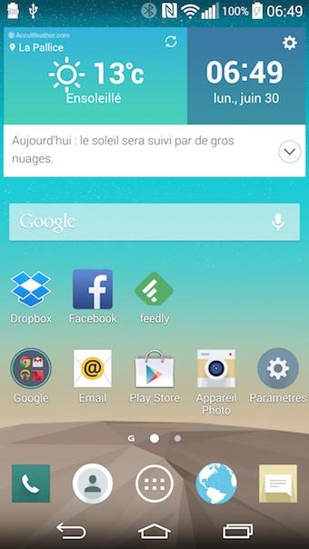 LG G3 : nouvelle interface de LG