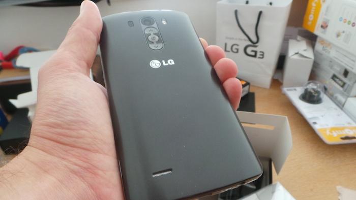 LG G3 : vue de dos