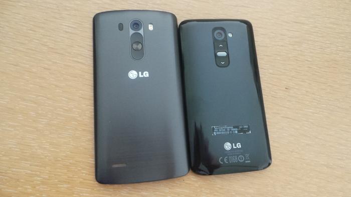 LG G3 versus LG G2
