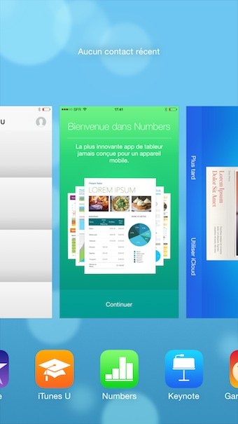 iOS 8 : mode multitâches