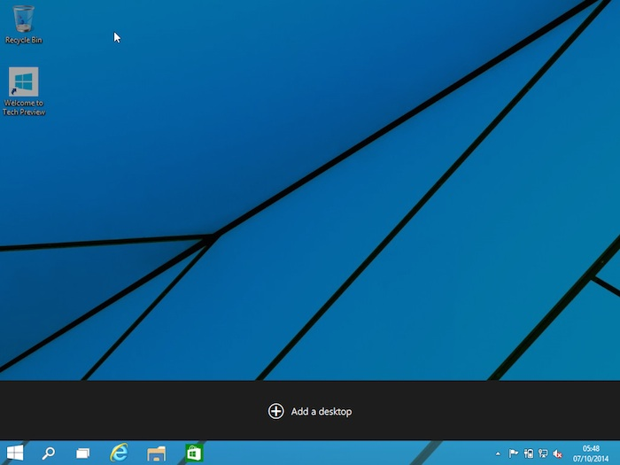 Windows 10 : Task View