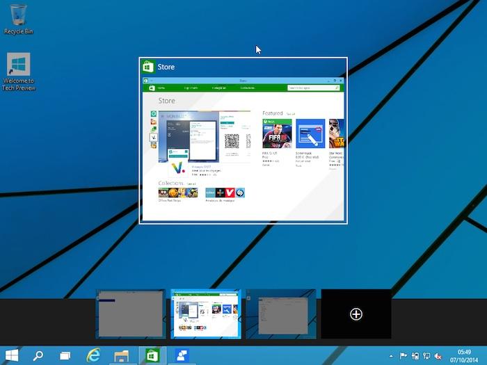 Windows 10 comment faire pour utiliser plusieurs bureaux for Bureau windows 10