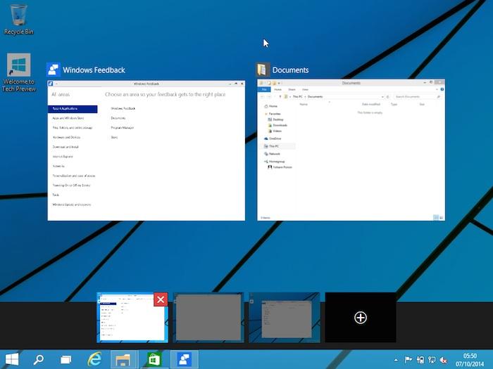 Windows 10 : suppression d'un bureau virtuel