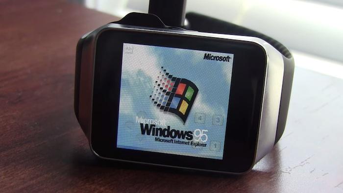 Windows 95 sur une smartwatch ... pourquoi pas ?