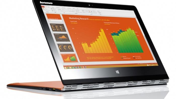 Lenovo Yoga 3 Pro : mode chevalet