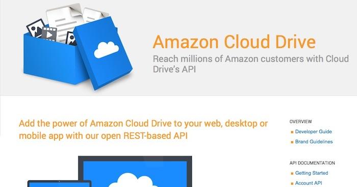 Amazon lance Cloud Drive API pour les développeurs d'applications tiers