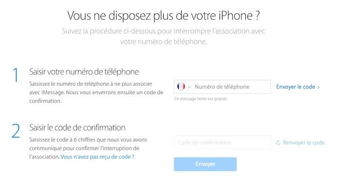 Apple lance un outil en ligne pour vous désenregistrer de iMessage