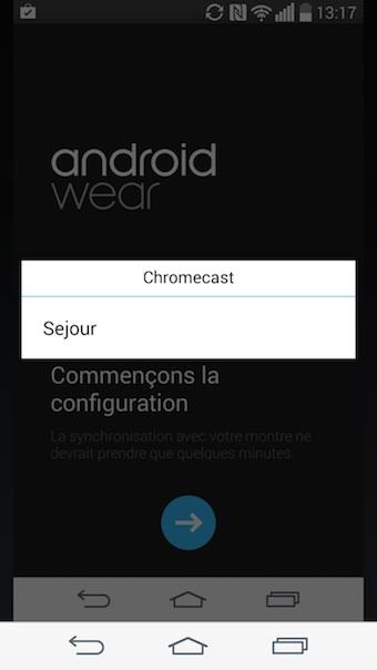 ES Chromecast plugin : sélection du Chromecast