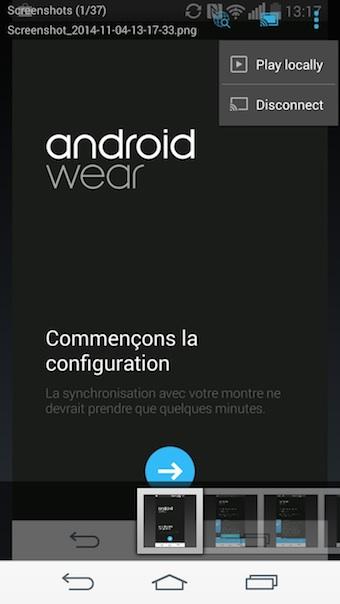 ES Chromecast plugin : bouton Play