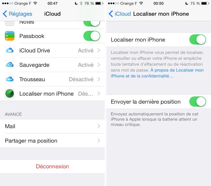 iOS 8 - Localiser mon iPhone