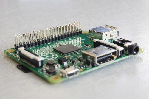 Raspberry Pi Model A+ : vue de côté