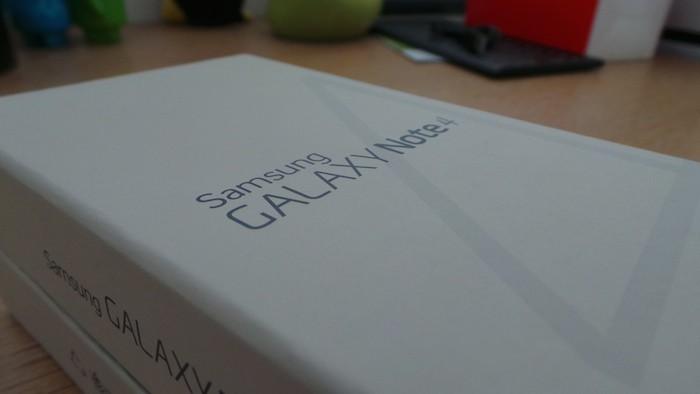 Samsung Galaxy Note 4 : boîte