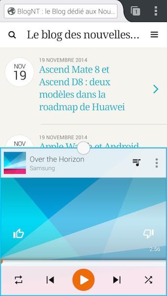 Samsung Galaxy Note 4 : vue multi-tâches
