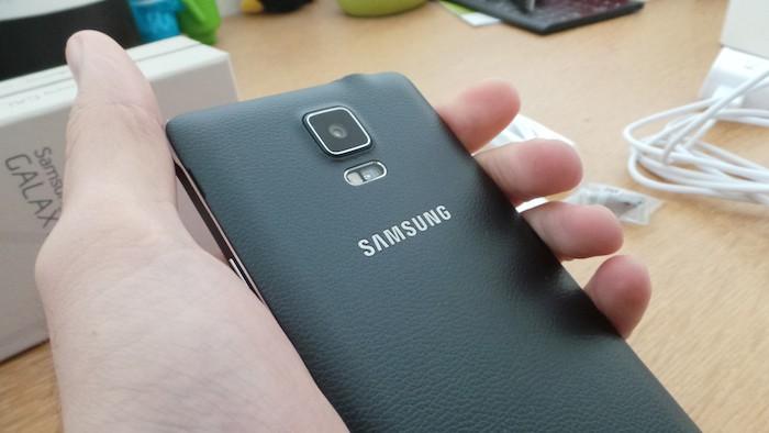 Samsung Galaxy Note 4 : coque simili cuir