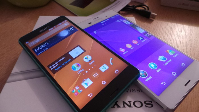 Sony Xperia Z3 : interface logicielle