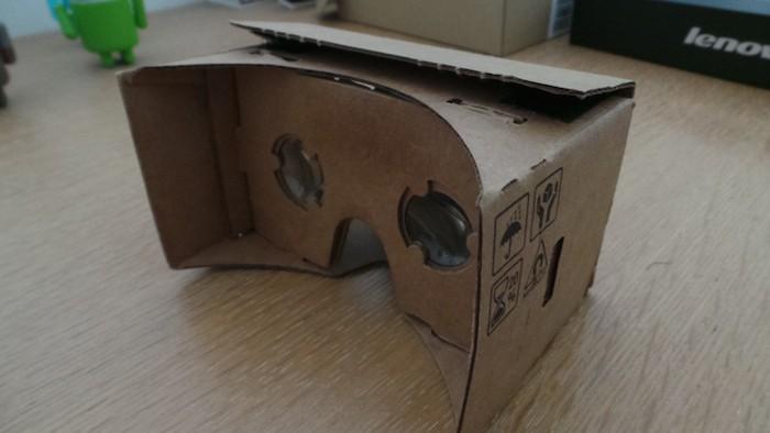Google Cardboard : vue de dos