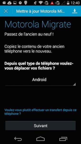 Moto G (2014) : Motorola Migrate