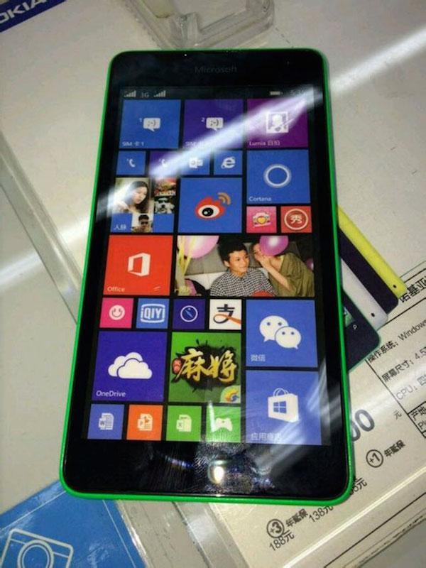 Lumia 535 : vue de face