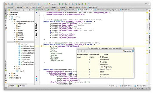 Android Studio 1.0 : édition intelligente du code