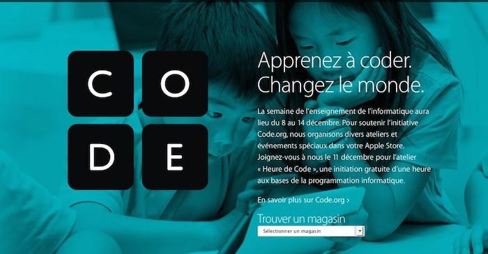 Hour of Code : Apple organisera des ateliers de programmation gratuits