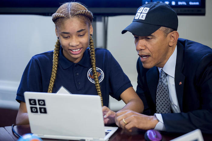 Hour of Code : Obama écrit quelques lignes de JavaScript