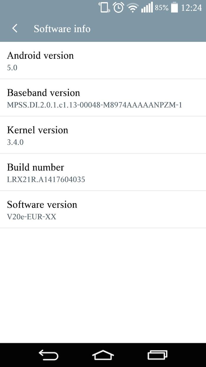 LG G3 : Android 5.0 Lollipop en cours de déploiement