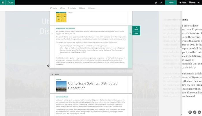 Microsoft ouvre les portes de Sway, sa nouvelle application Office