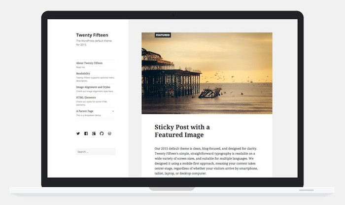 WordPress 4.1 : thème Twenty Fifteen