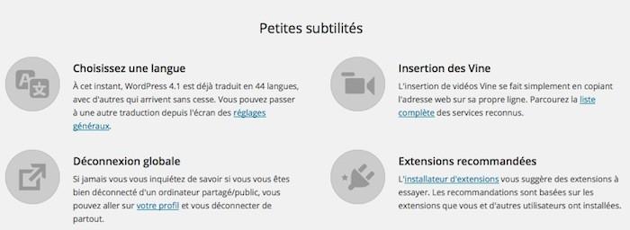 WordPress 4.1 : nouveautés