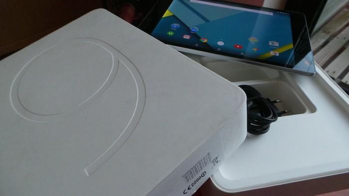 Nexus 9 : packaging