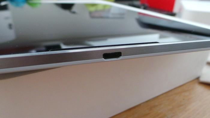 Nexus 9 : vue de dessus